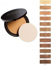 Iman Perfect Response Oil Blotting Pressed Powder - Deep