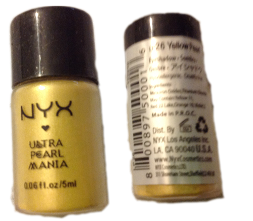 NYX Eyeshadow Loose Ultra Mania Pearl - Yellow