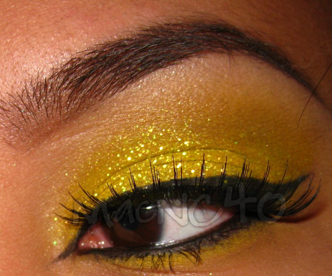 yellow glitter lips - photo #16